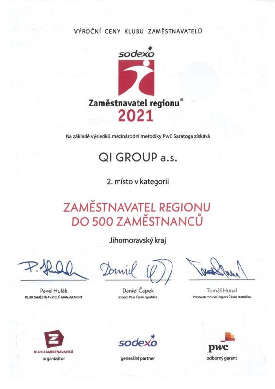 Sodexo Zamestnávateľ roka 2021